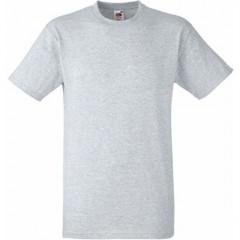 Tee-shirt classique, col rond, Gris Chiné