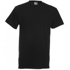 Tee-shirt classique, homme, col rond, Noir