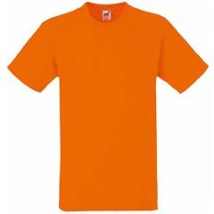 Tee-shirt classique, homme, col rond, Orange