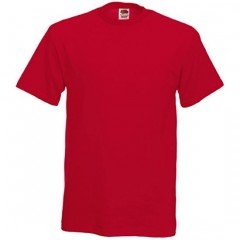 Tee-shirt classique, homme, col rond, Rouge