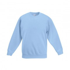 FRUIT OF THE LOOM, sweat enfant, Bleu Ciel