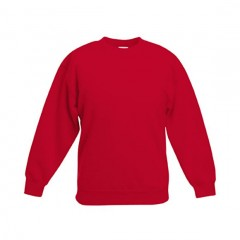 FRUIT OF THE LOOM, sweat enfant, Rouge