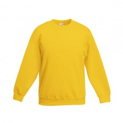 FRUIT OF THE LOOM, sweat enfant, Jaune