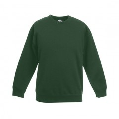 FRUIT OF THE LOOM, sweat enfant, Vert Bouteille