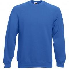 Sweat raglan homme, Bleu Royal, Fruit of the loom