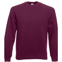Sweat raglan homme, Bordeaux, Fruit of the loom