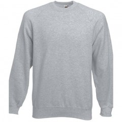 Sweat raglan homme, Gris Chiné, Fruit of the loom