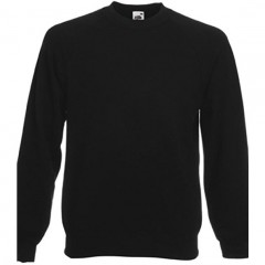 Sweat raglan homme, Noir, Fruit of the loom