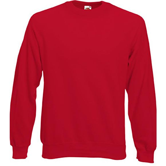 Sweat raglan homme, Rouge, Fruit of the loom
