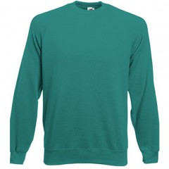 Sweat raglan homme, Vert Émeraude, Fruit of loom