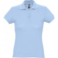 Polo femme, Bleu Ciel, manches courtes, classique