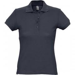 Polo femme, Marine, manches courtes, classique