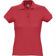 Polo femme, Rouge, manches courtes, classique