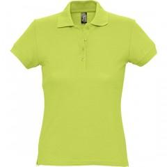 Polo femme, Vert Pomme, manches courtes, classique