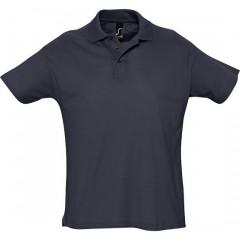 Polo homme, Marine, manches courtes, classique