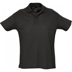 Polo homme, Noir, manches courtes, classique