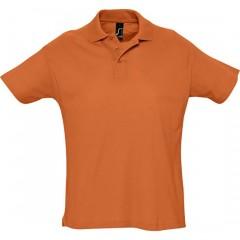 Polo homme, Orange, manches courtes, classique