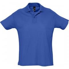 Polo homme, Bleu Royal, manches courtes, classique