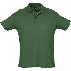 Polo homme, Vert Golf, manches courtes