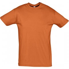 Tee-shirt grande taille, Orange, col rond, unisexe