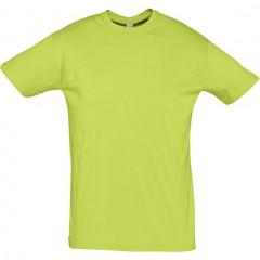 Tee-shirt premier prix, manches courtes, col rond, Vert Pomme