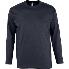 Tee-shirt manches longues, Marine, homme