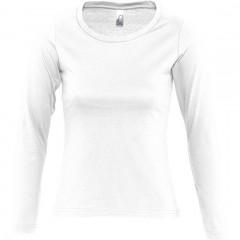 Tee-shirt femme, Blanc, manches longues