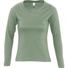 Tee-shirt femme, Kaki, manches longues
