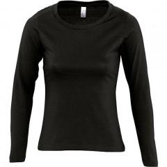 Tee-shirt femme, Noir, manches longues