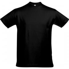 Tee-shirt grande taille, Noir Profond, col rond , unisexe