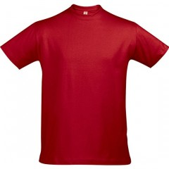 Tee-shirt grande taille, Rouge, col rond, unisexe