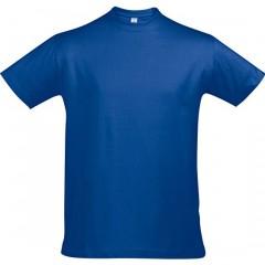 Tee-shirt grande taille, Bleu Royal, col rond, unisexe.