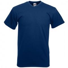 Tee-shirt tendance, homme, col V, Marine