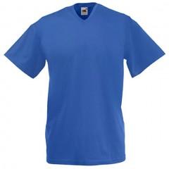 Tee-shirt tendance, homme, col V, Bleu Royal
