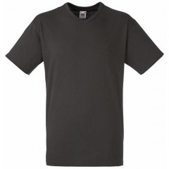 Tee-shirt tendance, homme, col V, Gris Anthracite