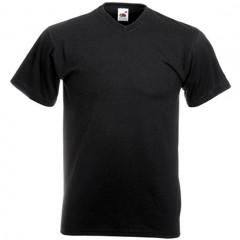 Tee-shirt tendance, homme, col V, Noir
