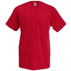 Tee-shirt tendance, homme, col V, Rouge