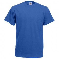 Tee-shirt classique, col rond, Bleu Royal