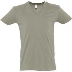 t shirt, Kaki, col V profond, MASTER SOL'S