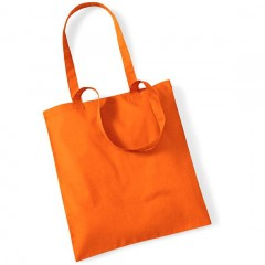 SAC de shopping, anses longues, Orange
