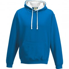 sweat a capuche bicolore, Bleu Royal-Blanc